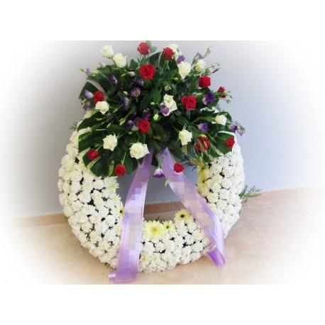 Corona Fúnebre Blanca